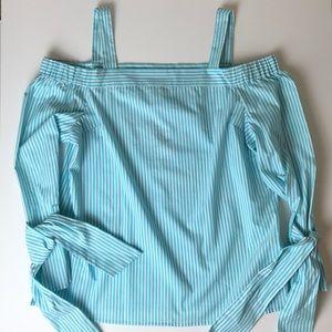 MICHAEL Michael Kors basic cold shoulder top